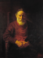 Rembrandt: portrait of an old man.