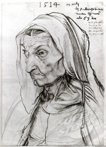 Durer: Portrait of the Artists Mother 1514