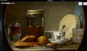Jar of Apricots: Chardin (1758)